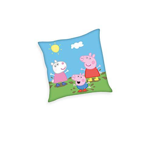 Herding Peppa Pig Dekokissen, Polyester, Mehrfarbig, 40 x 40 cm