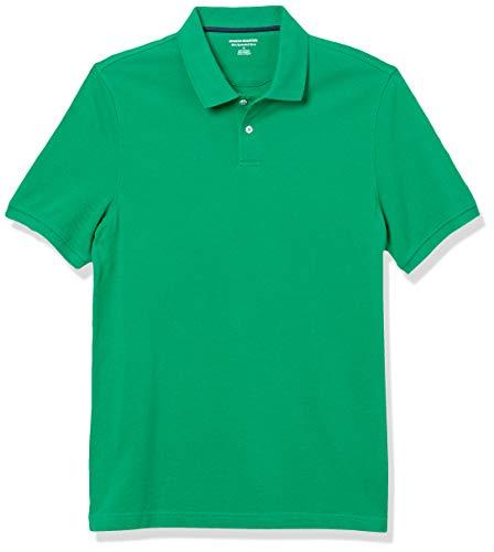 Amazon Essentials Men's Slim-Fit Cotton Pique Polo Shirt, -Green, X-Large