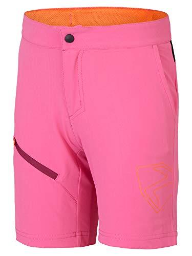 Ziener Kinder Natsu X-Function Fahrrad-Shorts/Rad-Hose Mit Innenhose/Mountainbike - Atmungsaktiv|schnelltrocknend|gepolstert, pink Dahlia, 140