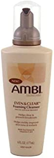 Ambi Even & Clear Foaming Cleanser 6 Ounce Pump (177ml) (2 Pack)