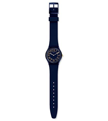 Swatch Damen Analog Schweizer Quarz Uhr mit Silicone Armband GN262