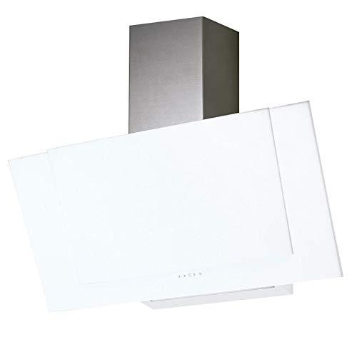 Allcata VALIO 900 XGWH inkl Umluftset Dunstabzugshaube 90 cm kopffrei weiß Glas 6 Leistungsstufen mit Nachlaufautomatik LED-Beleuchtung 44 dB(A) bis 900 m³/h