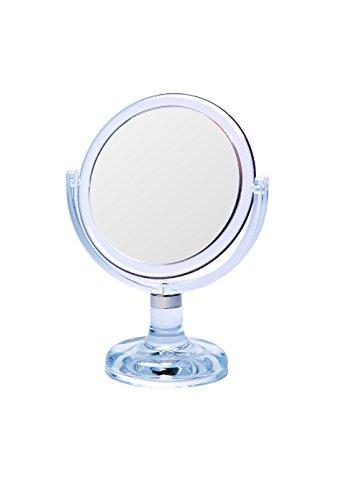 Gerson Miroir sur Pied Transparent Grossissant x 10 Diamètre 13 cm Haut 23,5 cm