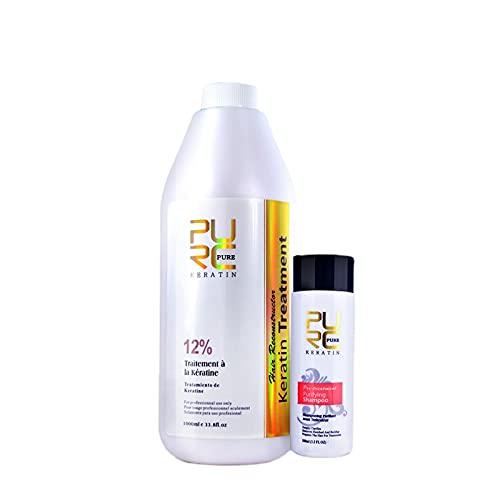 Juego de champú purificador de queratina 12% para el cuidado del cabello con queratina para alisar productos para el cuidado del cabello 1000ml