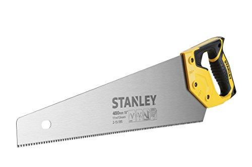 Stanley JetCut Handsäge (fein, 450 mm Länge, 11 Zähne/Inch, Bi-Material, Hardpoint-Verzahnung, 45°/90°-Anschlag) 2-15-595