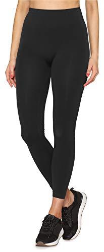 Merry Style Damen Nahtlose Leggings mit breitem Komfortbund GI001 (Greystone, S/M)