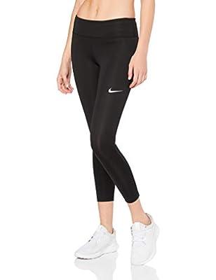 Nike Women's Fast Crop, Black/Reflective Silver, Medium