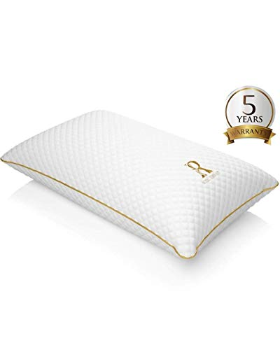 ROYAL THERAPY Memory Foam Pillow,Bamboo-Adjustable Shredded Odor-Free...