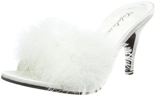 Pleaser Women's Amour-03 Pump,White,8 M