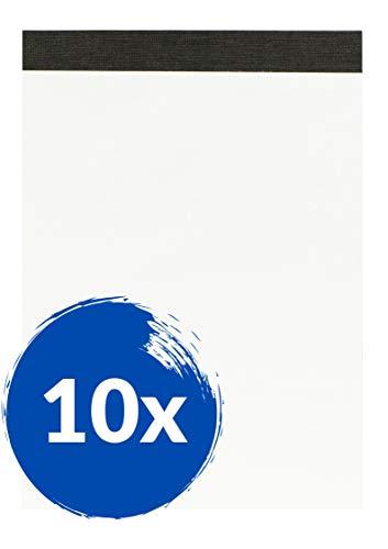 Landre Notizblock A6 blanko, ohne Deckblatt, 50 Blatt, 10er Pack