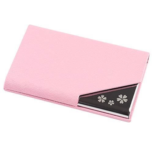 Fukuhana 名刺入れ ケース ビジネス レディース カラフル 8色 名刺が折れない (ピンク)