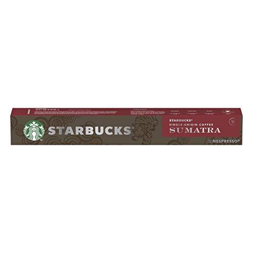 Starbucks- Cápsulas de Café Espresso Sumatra Dark Roast- Compatible con Nespresso- 10 Unidades de 5.5 Gramos.
