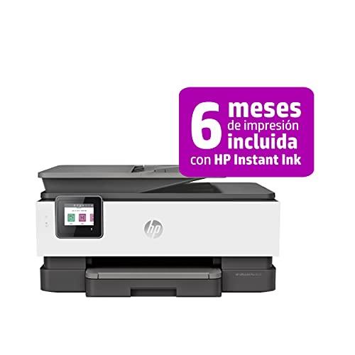 HP OfficeJet Pro 8022 1KR65B, Impresora Multifunción Tinta, Imprime, Escanea, Copia y Fax, Wi-Fi, Ethernet, USB 2.0, HP Smart App, Incluye 2 Meses del Servicio Instant Ink, Gris