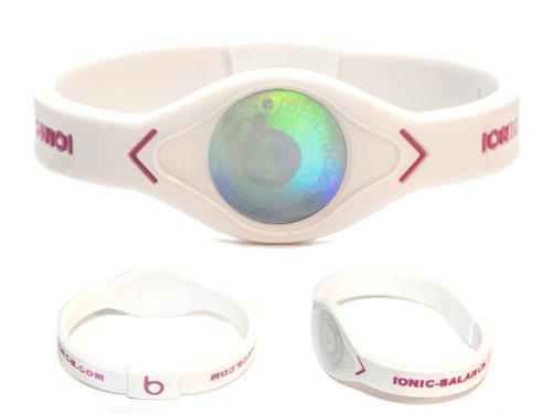Ionic-Balance - Powerarmbänder in Mehrfarbig - Cream / Purple, Größe X-Small - 16cm / 6.3in