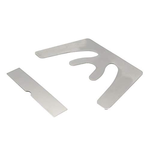 Healifty Edelstahl Okklusalplatte Dental Okklusal Oberkiefer Casting Backenplatte Autoklavierbar Mundschutz Zähne Werkzeug 2 Stücke