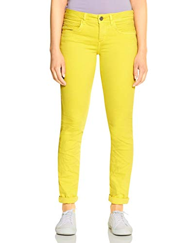 STREET ONE Damen Crissi Jeans, shiny yellow soft wash, W28/L32