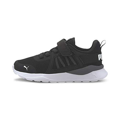 PUMA Unisex Kinder ANZARUN AC PS Sneaker, Schwarz Weiß, 30 EU