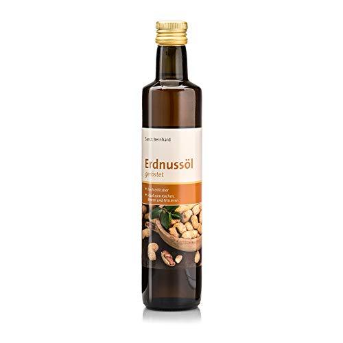 Sanct Bernhard Erdnussöl geröstet, Hoch erhitzbar, ideal zum Kochen, Braten und Frittieren, Inhalt 500 ml