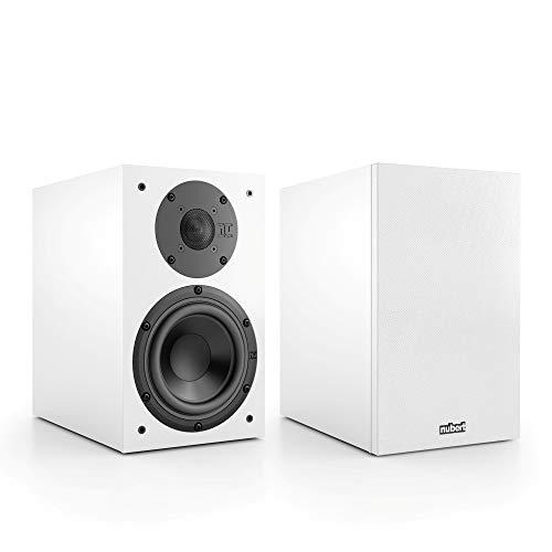Nubert nuBox 313 Regallautsprecherpaar | Lautsprecher für Stereo & Musikgenuss | Heimkino & HiFi Qualität auf hohem Niveau | Passive Regalboxen mit 2 Wege Technik | Kompaktlautsprecher Weiß | 2 Stück