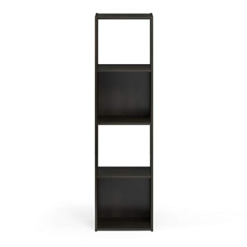 Furinno Pelli Cubic Storage Cabinet, 4x1, Espresso