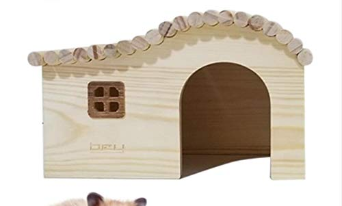 Willlly Igelhaus Holz Mit Boden Winterfest Bausatz Mit Windows Igelhütte Outdoor Totoro and Hamster Chalet (Color : A-L, Size : 19X13X12.5)