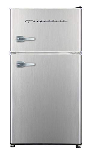 Frigidaire EFR341, 3.2 cu ft 2 Door Fridge and Freezer, Platinum Series, Stainless Steel, Double