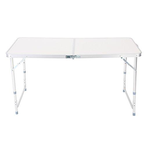 Ladieshow Nuevo caballete de mesa plegable de 4 pies para acampar, picnic, barbacoa, puesto de graden interior