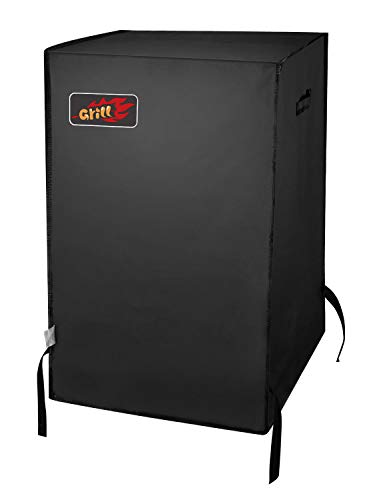 Homitt 30 Inch Smoker Cover Fits Masterbuilt Electric Smoker with Wind Against Nylon Tape Straps - Using Fade Resistant and Waterproof Durable Material for Indoor and Outdoor Use