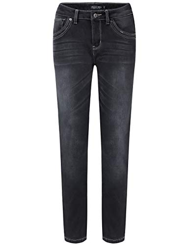 Camii Mia Damen Jeanshose Fleece Gefüttert Slim Fit Dicke Winter Thermohose Low Rise Jeans (28W x 30L, Grau (847))