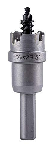 EZARC Lochsäge Hartmetall-Bohrer, leistungsfähiger Lochöffner ideal für Löchern in Edelstahl und Metall, 20mm