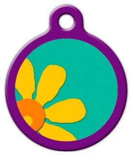 """Lupine Pattern """"Crazy Daisy"""" - Custom Pet ID Tag for Dogs and Cats - Dog Tag Art - LARGE SIZE"""