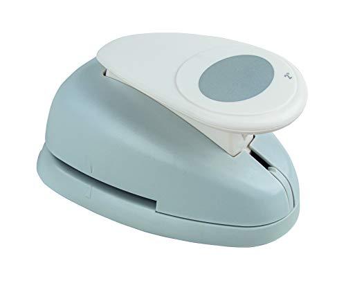 Rayher Hobby 8964800 Motivstanzer Oval, ø 5,08 cm- 2 Zoll, geeignet für Papier/Karton bis zu 200g/m²