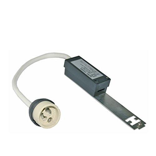 rutec 55008 UNIVERSAL Zugentlastung mit Fassung Sockel GZ10 GU10 für 230V Hochvolt Halogen Lampe LED Leuchte in Einbaustrahler Spot