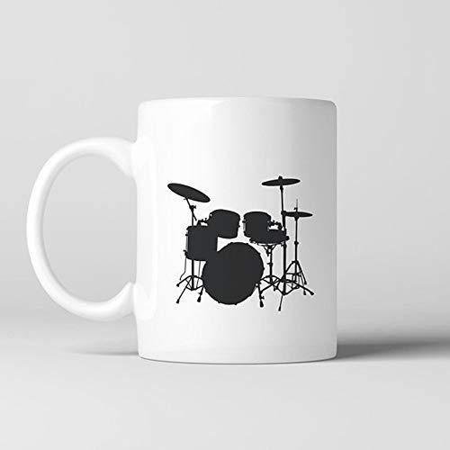 Tazadecaféconbatería,tazadecerámica,tazadechocolatecaliente,caldo,cerámica,té,baterista,banda,amantedelamúsica,rockandroll,metal,bajo,punk,tazadecafédecerámica,11oz