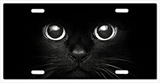Mayers Fashion Cat License Plate Metal License Plate Frame 12X 6 inch Front Car Tag for Car Truck RV Trailer Cars Tag Black