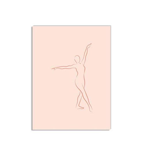 Preisvergleich Produktbild Wwjwf Wandkunst Poster Druck Nordic Modular Pictures Zusammenfassung Einfache Weibliche Gliedmaßen Linien Leinwand Malerei Schlafzimmer Wohnkultur 60X80Cm Kein Rahmen A.