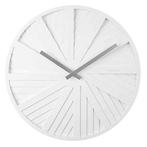 Karlsson - Slides - Reloj de pared - Diseño Chantal Drenthe - Plástico - Blanco - D 40 cm - Excl.
