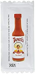 commercial Tapatio Travel Hot Sauce 100 1/4 oz.package salsa valentina packets