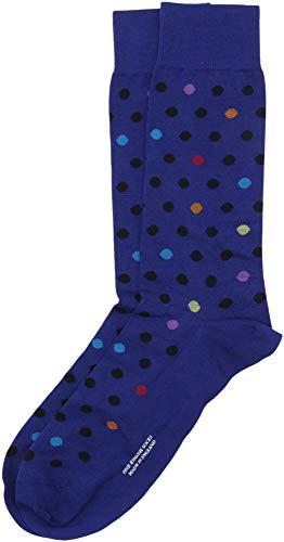 Pantherella Herren Socken Somerford Mid Wadensocken mit mehreren Punkten - Blau - Medium