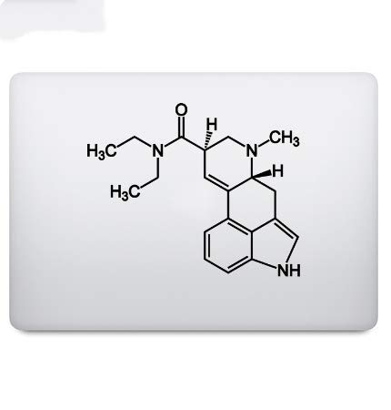 XIANYING LSD Chemistry Molecule Laptop Decal Sticker Vinyl Notebook Partial Skin Sticker 15 Inch