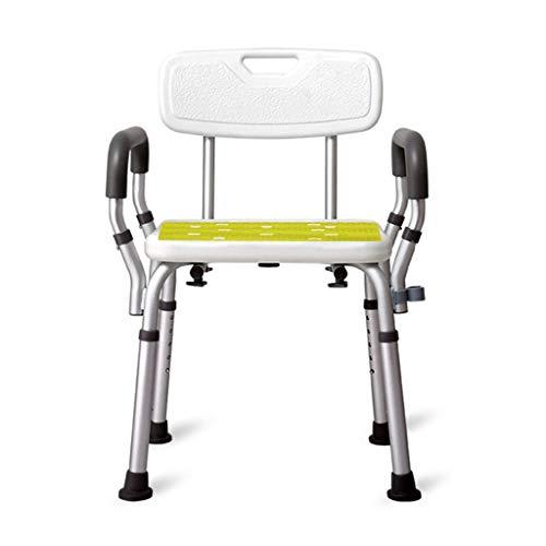 Taburete de ducha, asiento de ducha con pies de goma, taburete de baño para baño, personas mayores, discapacitados y movilidad limitada, silla de duch