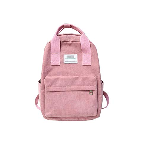 Corduroy Backpack Women Winter Casual Style Ladies Solid Color Backpack Women Backpack