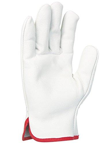 Singer - Paire de gants tout fleur de bovin - Coloris naturel - Serrage élastique - Taille 11-56GN10