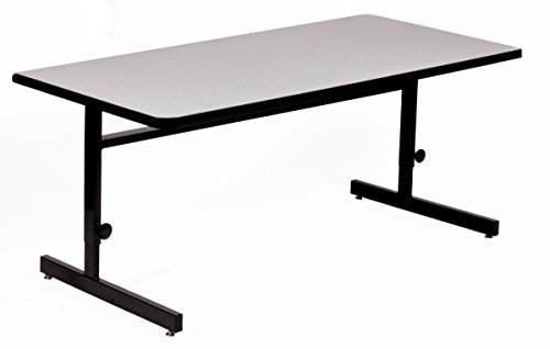 Correll 30'x72' Adjustable Height Training & Computer Tables, Gray Granite High Pressure Laminate, Computer Work Station (CSA3072-15), 30' x 72'
