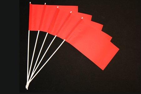 Everflag Papierfähnchen: Rot 50er Packung