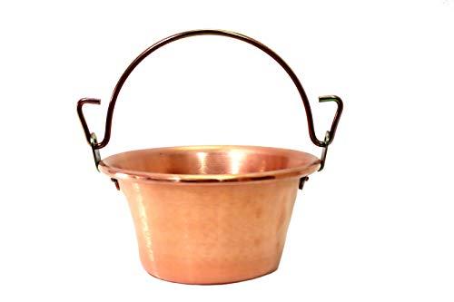 Cazuela de cobre para polenta con mango de arco de 22...