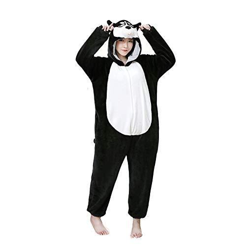 JXILY Tier Einteiliger Pyjamas Bademantel, Husky Plüsch Bademantel, Elternkind...