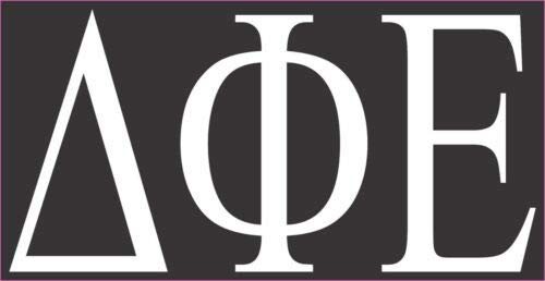 DELTA PHI EPSILON SORORITY 3.0' X 6.0' WINDOW DECAL VINYL BUMPER STICKER LAPTOP Tin Sign 12' X 8' Home Wall Decoration