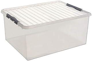 Sunware Q-Line Boîte de Rangement, Transparent métallique, Taille Unique
