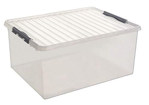 Sunware Q-Line Aufbewahrungsbox, transparent metallic, One Size